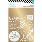 Heidi Swapp - Wanderlust Collection - Foil Rub On Kit - Sentiments