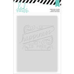 Heidi Swapp - Wanderlust Collection - 5 x 7 Embossing Folders - Happiness