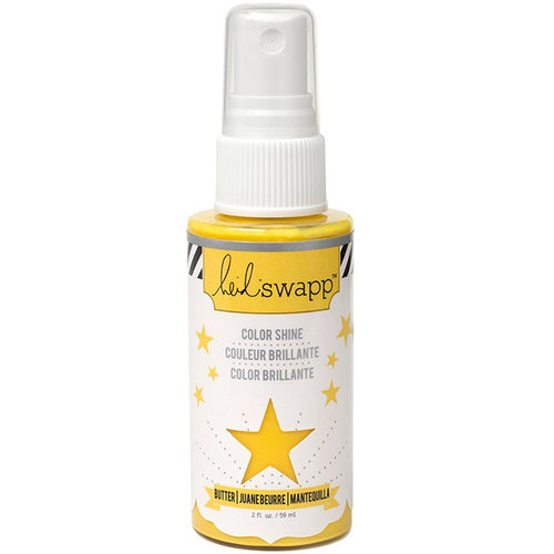 Heidi Swapp - Color Shine Iridescent Spritz - 2 Ounce Bottle - Butter
