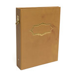 Heidi Swapp - Wanderlust Collection - 5 x 7 Memory Binder - Gold Foil - Vintage