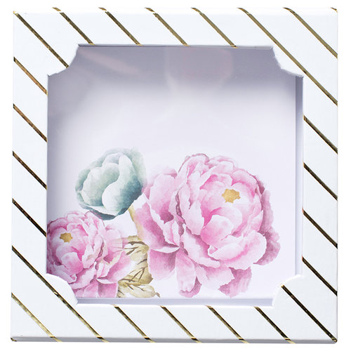 Heidi Swapp - Wanderlust Collection - Keepsake Album - Floral Square - 5 x 5