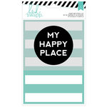 Heidi Swapp - Wanderlust Collection - Stamp and Stencil Set - 5 x 7 - My Happy Place