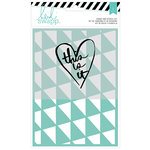 Heidi Swapp - Wanderlust Collection - Stamp and Stencil Set - 5 x 7 - This Is It