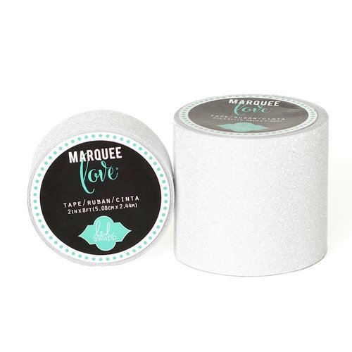 Heidi Swapp - Marquee Love Collection - Glitter Tape - White - 2 Inches Wide