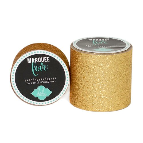 Heidi Swapp - Marquee Love Collection - Glitter Tape - Gold - 2 Inches Wide