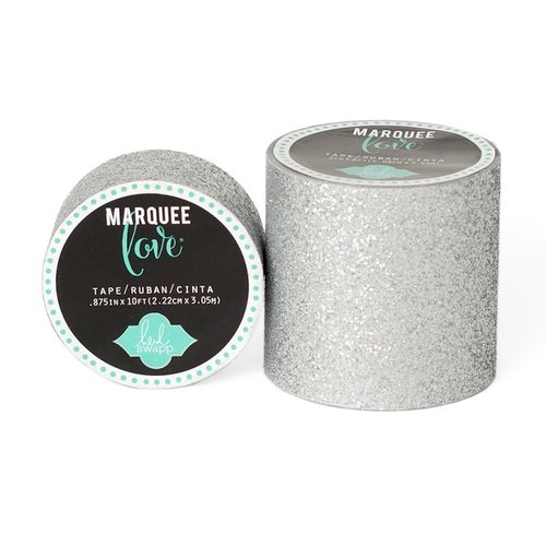 Heidi Swapp - Marquee Love Collection - Glitter Tape - Silver - 2 Inches Wide