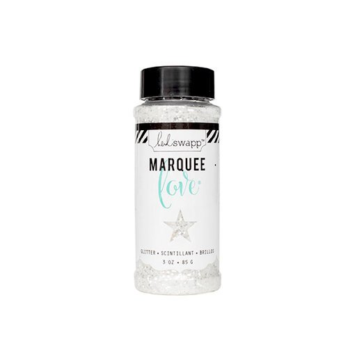 Heidi Swapp - Marquee Love Collection - Chunky Glitter Jar - White - 3 Ounces