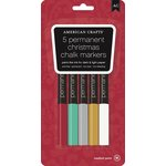 American Crafts - Chalk Marker Set - Christmas - 5 Pack