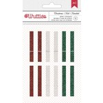 American Crafts - Christmas - Clothespins - Glitter
