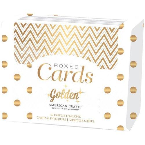American Crafts - Boxed Card Set - Golden - Gold Foil