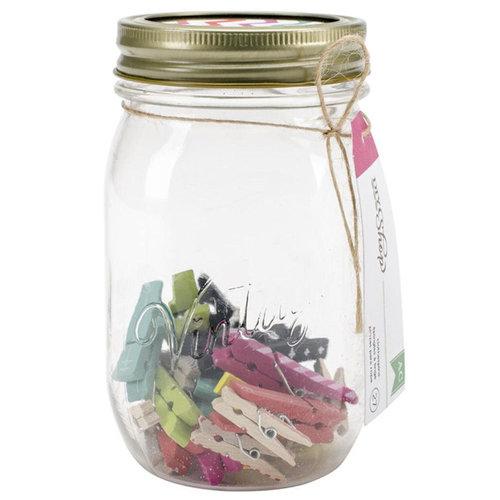 American Crafts - DIY Shop Collection - Mason Jars - Clothespins