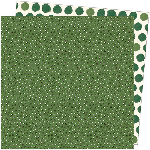 American Crafts - Late Afternoon Collection - 12 x 12 Double Sided Paper - Grass Is Greener