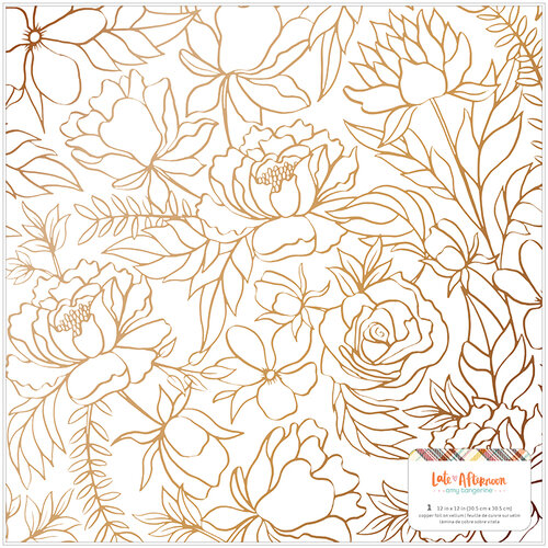 American Crafts - Late Afternoon Collection - 12 x 12 Specialty Paper - Vellum - Copper Foil
