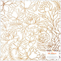 Amy Tangerine - Late Afternoon Collection - 12 x 12 Specialty Paper - Vellum - Copper Foil