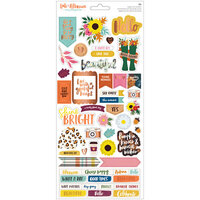 Amy Tangerine - Late Afternoon Collection - 6 x 12 Cardstock Sticker Sheet with Copper Foil Accents