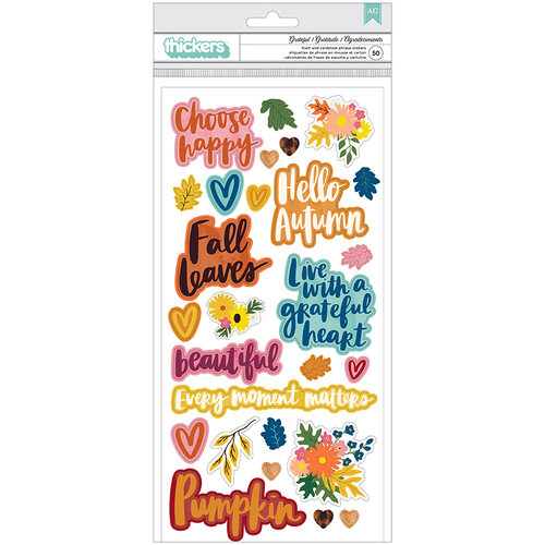 American Crafts - Late Afternoon Collection - Thickers - Phrase - Grateful - Foam