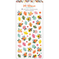 Amy Tangerine - Late Afternoon Collection - Mini Puffy Stickers with Copper Foil Accents