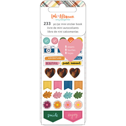 American Crafts - Late Afternoon Collection - Mini Sticker Book