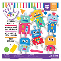 American Crafts - Best Ideas For Kids Collection - Craft Kits - Clothespin Robots