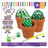American Crafts - Best Ideas For Kids Collection - Craft Kits - Cactus Rock Painting