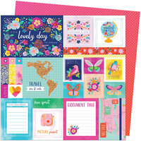 American Crafts - Go the Scenic Route Collection - 12 x 12 Double Sided Paper - Paper 1