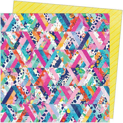 American Crafts - Go the Scenic Route Collection - 12 x 12 Double Sided Paper - Paper 8