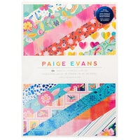 Paige Evans - Go the Scenic Route Collection - 6 x 8 Paper Pad with Navy Foil Accents