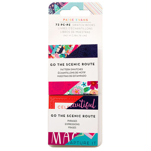 Paige Evans - Go the Scenic Route Collection - 2 x 2 Paper Pad - Swatch Book