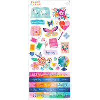 American Crafts - Go the Scenic Route Collection - 6 x 12 Cardstock Stickers
