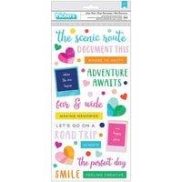 American Crafts - Go the Scenic Route Collection - Thickers - Phrase - Puffy