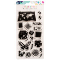 American Crafts - Go the Scenic Route Collection - Clear Acrylic Stamps
