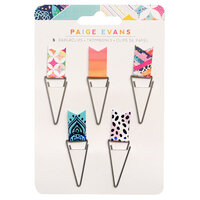Paige Evans - Go the Scenic Route Collection - Flag Paperclips with Navy Foil Accents