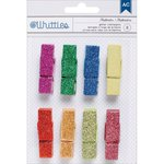 American Crafts - Whittles - Decorated Clothespins - Multi Color Glitter