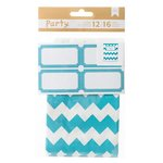 American Crafts - DIY Party - Treat Bags and Labels - Blue