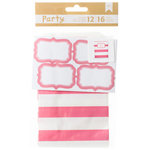 American Crafts - DIY Party Treat Bags and Labels - Pink