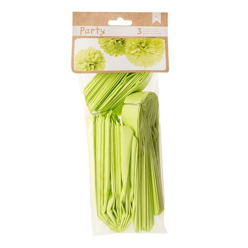 American Crafts - DIY Party - Party Pom Poms - Green