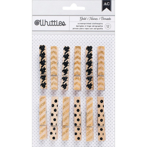 American Crafts - Whittles - Decorated Clothespins - Trendy