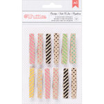 American Crafts - Whittles - Decorated Clothespins - Burlap Prints