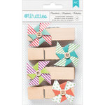 American Crafts - Whittles - Decorated Clothespins - Pinwheels