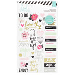 Heidi Swapp - Hello Beautiful Collection - Memory Planner - Sheer Stickers - Words and Icons
