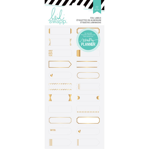 Heidi Swapp - Hello Beautiful Collection - Memory Planner - Stickers - Gold Foil Labels