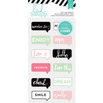 Heidi Swapp - Hello Beautiful Collection - Memory Planner - Puffy Stickers - Chat Bubbles