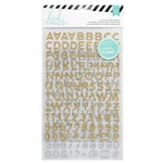 Heidi Swapp - Hello Beautiful Collection - Memory Planner - Glitter Alphabet Stickers - Gold and Silver