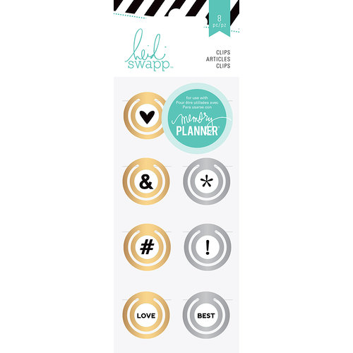 Heidi Swapp - Hello Beautiful Collection - Memory Planner - Metal Circle Clips