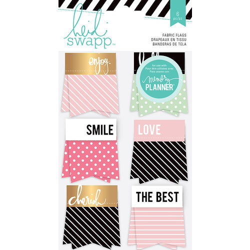 Heidi Swapp - Hello Beautiful Collection - Memory Planner - Fabric Flags