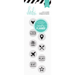 Heidi Swapp - Hello Beautiful Collection - Memory Planner - Clear Acrylic Stamps - Circle Icons