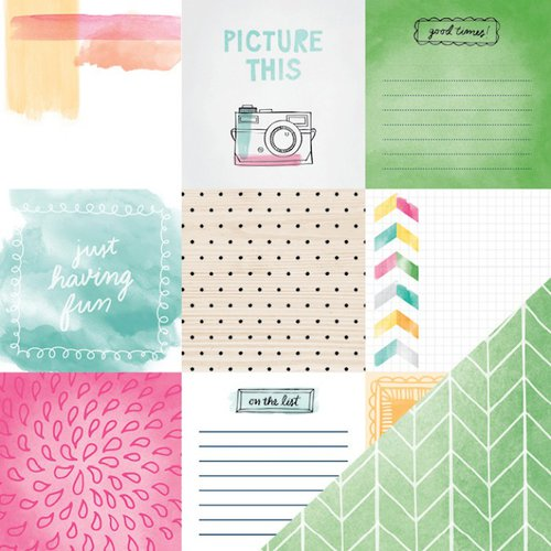 American Crafts - Rise and Shine Collection - 12 x 12 Double Sided Paper - Emma