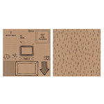 American Crafts - Rise and Shine Collection - 12 x 12 Kraft Paper - Monroe