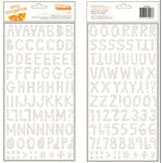 American Crafts - Amy Tangerine Collection - Rise and Shine - Thickers - Foil - Alyx - Silver