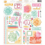 American Crafts - Amy Tangerine Collection - Rise and Shine - Transparent Stickers - Accent and Phrase